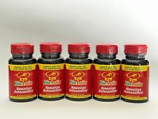 Bundle of 5 - BioAstin Hawaiian Astaxanthin Nutrex Hawaii - 60 Gel Caps - 4 mg