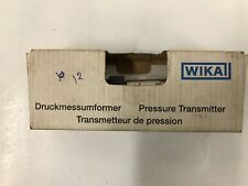 WIKA Pressure Transmitter S-10 P# 7216428  Range   -1...12 bar G 3/8
