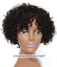 "Best Curly Wigs Short Bob Wig Brazilian Remy Human Hair Wigs For Black Women 8"""