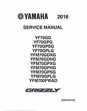 Yamaha ATV service workshop manual 2016 GRIZZLY 700