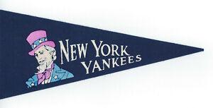 "1960's New York Yankees felt mini Pennant 9"" vintage Uncle Sam logo"