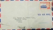 o) 1956 JAMAICA, BLUE MOUNTAIN PEAK-QUEEN ELIZABETH II,  SCOTT 8P.  COVER TO CAR