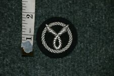 GOOD COPY WWII FRENCH FRANCAISE MILICE BERET HAT CAP BADGE VICHY BULLION WIRE