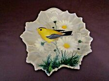 Hand Painted Lummis Studios Bird Plate on Steubenville (Cat.#8A047)