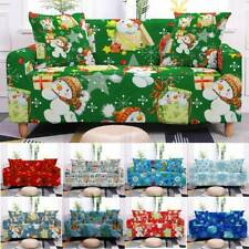 1-4 Seater Elastic Slipcover Christmas Stretch Chair Sofa Couch Cover Protector