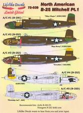 Lifelike Decals 1/72 NORTH AMERICAN B-25 MITCHELL Bomber Part 1