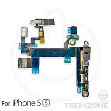 For iPhone 5S Volume Button Power Flex Cable and Mute Switch With Metal Brackets