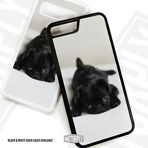 Printed Plastic Clip Phone Case Cover For Samsung - Black Pug On Bed - Cute Dog