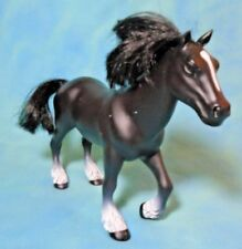 Vintage Black Horse with White Spot on Face Model