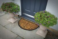 Door Entrance Doormat Floor - 45cm x 75m - Non-Slip - Half Moon Outdoor Mat Rug