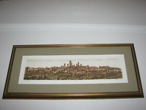 Vincenzo Volpi San Gimignano Tuscany Limited Edition Signed Etching, Print