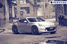 20x9 20x11 +28 Rohana RC20 5x114 Machine Black Rims Fit Nissan 370Z 2009 Concave