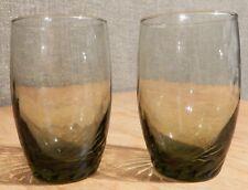 Libbey Olive Green Glasses Set of 2