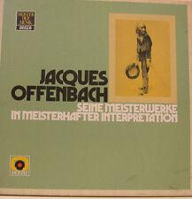 JACQUES OFFENBACH SEINE MEISTERWERKE SUTHERLAND PLACIDO DOMINGO 2-LP BOX (d556)