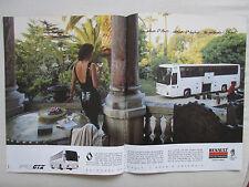 9/1989 PUB RENAULT VEHICULES INDUSTRIELS CAR FR1 GTX ORIGINAL FRENCH AD