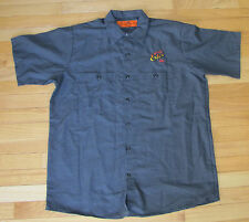 NWOT Shipyard Brewery Capt'n Eli's Soda Dark Gray Short Sleeve Button-up Shirt L