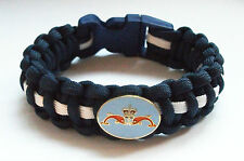ROYAL NAVY SUBMARINER DOLPHINS PARACORD WRISTBAND WITH BADGES