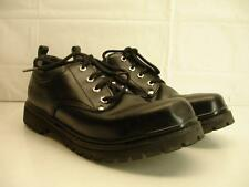 Mens 12 M SKECHERS Utility alley cats black leather work shoes oxfords platform