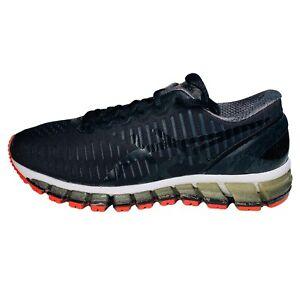Asics Gel Quantum 360 Womens Black Onyx Hot Red Running Sneakers Shoes 8.5M