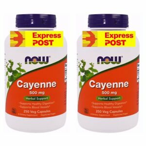 Cayenne Pepper Now Foods, 500 mg Your purchasing 2 Bottles 500 Caps