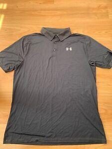 3XL XXXL Mens Under Armour Heatgear Fitted Golf Sports Polo Shirt Navy Blue 99p