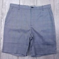 Footjoy FJ Golf Shorts Mens 38 Blue Check Performance Bermuda Stretch SH16