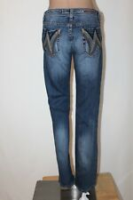"VIGOSS JEANS Women's Size 9/10 30 Distressed Boot Cut Stretch Jeans 33"" Inseam"