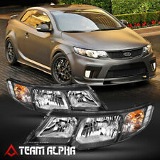 Fits 2010-2013 Kia Forte/Koup [Chrome/Clear] Crystal Corner Headlight Headlamp