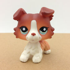 LPS#1542 Brown Collie Dog Littlest Pet Shop Blue Eyes Puppy Collection Rare Toy