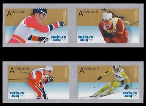 NORWAY Sc. 1730-3 Olympic Skiers 2014 MNH