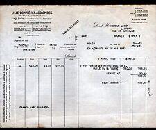 """PARIS (IX°) HUILE GRAISSES & PETROLE """"LILLE BONNIERES & COLOMBES"""" en 1933"""