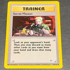 Pokemon Gym Heroes Set UN-COMMON Secret Mission 118/132 - Near Mint (NM)