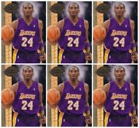 (6) 2008 Upper Deck 20th Anniversary UD-3 Kobe Bryant Lot Los Angeles Lakers
