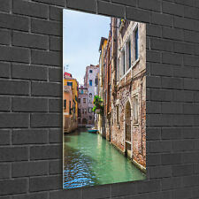 Wandbild Kunst-Druck auf Hart-Glas senkrecht 50x100 Venedig Italien