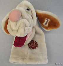 Ganz Wrinkles Hound Dog Hand Glove Puppet 10in Plush Beige 1980s Fabric Mouth