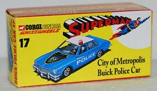 CUSTOM MADE DISPLAY BOX FOR CORGI JUNIORS 17 SUPERMAN POLICE CAR -FREE U.K. POST
