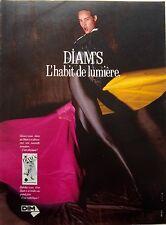 page de publicité   COLLANTS DIAM'S DE   DIM   en   1989 REF 47491