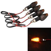 4Pcs Amber Motorcycle Motorbike Turn Signal 14 LED Indicator Blinker Light
