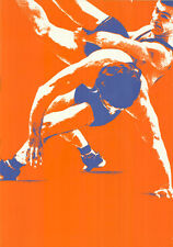"""Olympische Spiele 1972 München Motiv """"TEST-PLAKAT RINGEN"""" DIN A0 Otl Aicher"""