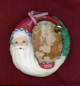 CARLTON CARDS: HEIRLOOM COLLECTION, VISIT WITH SANTA  1995 - Photo Holder