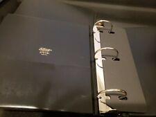 Pair Of Vintage Genuine Trussell 3 Ring Black Binders