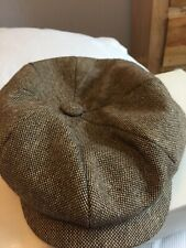 Gamble & Gun flat cap small 55 cm brown Herringbone wool new