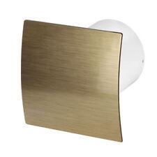 Badezimmer Extraktor Ventilator 125mm/12.7cm Gebürstetes Gold Frontplatte  Wez125