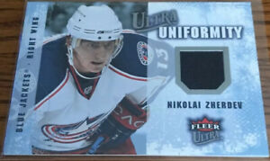 2008-09 Fleer Ultra Uniformity Jerseys Nikolai Zherdev UA-NZ