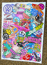VW STICKER BOMB A4 x2 SHEETS VOLKSWAGEN BEETLE SPLIT BAY CAMPER GOLF POLO LUPO