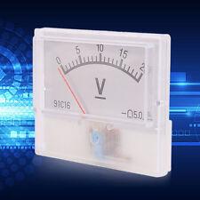 Professional DC 0-20V Square Analog Volt Voltage Panel Meter Voltmeter Gauge FE