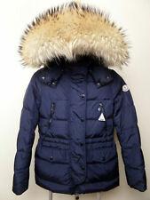 MONCLER FRAGON Women's down jacket Bomber Parka coat Size XS/14Y 164 hood Blue