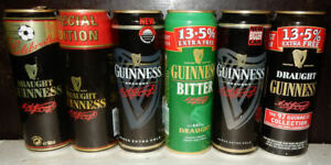 6 Extra large GUINNESS Beer cans from UNITED KINGDOM (56cl)