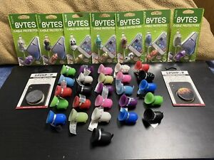 A Variety Of 35 Cell Phone Accessories & Cable Protectors