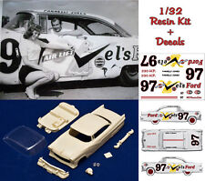 1/32 Parnelli Jones Ford Fairlane 1956 resin body kit Slot Car + decals sheet